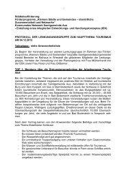 Protokoll Lenkungsgruppe Tourismus - Samtgemeinde Aue