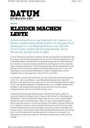 KLEIDER MACHEN KLEIDER MACHEN LEUTE - die-waescheleine.at
