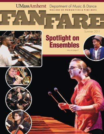 Fanfare Newsletter 2011 - University of Massachusetts Amherst
