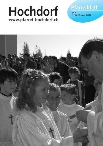 Pfarreiblatt 08-04.qxd - Pfarrei Hochdorf