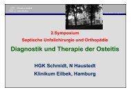 Diagnostik und Therapie der Osteitis - Septische Chirurgie