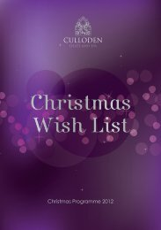 Culloden Estate and Spa Christmas Residential ... - Hastings Hotels