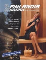 Finlandia Catalog - Sauna Supplies