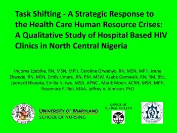 Task Shifting - A Strategic Response to the Health Care ... - IUPUI