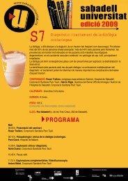 Tot el programa (PDF) - Sabadell Universitat