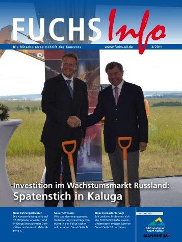 Investition im Wachstumsmarkt Russland: Spatenstich in Kaluga