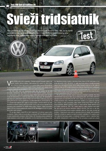 Test: VW Golf GTI edition 30 - AutoTuning.sk