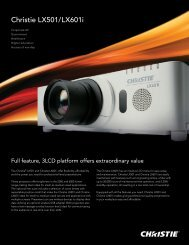 Christie LX501 and LX601i Brochure - Christie Digital Systems