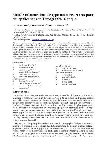 Une formulation Moindres Carrés associée à la Méthode des ...