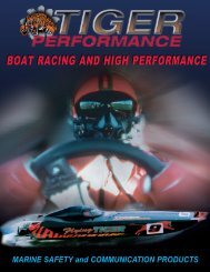 boat racing and high performance - Tiger Performance Products
