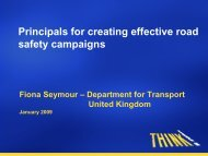 Principals for creating effective road safety campaigns