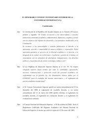 Reglamento de Escalafón y Carrera Docente e Investsigador UMET