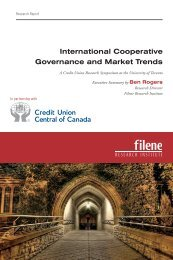 International Cooperative Governance and Market Trends - Filene ...