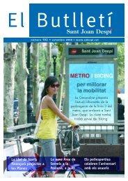 EL BUTLLETÍ 192.pdf - Ajuntament de Sant Joan Despí