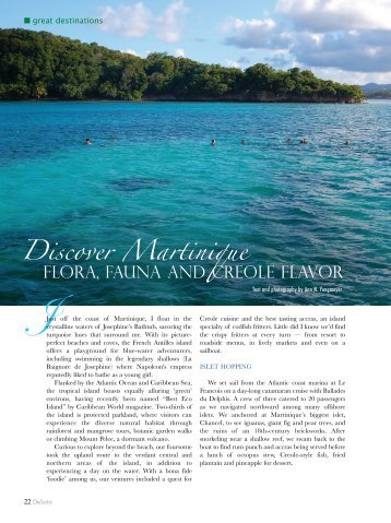 DeSoto Magazine – Discover Martinique - Ann Yungmeyer