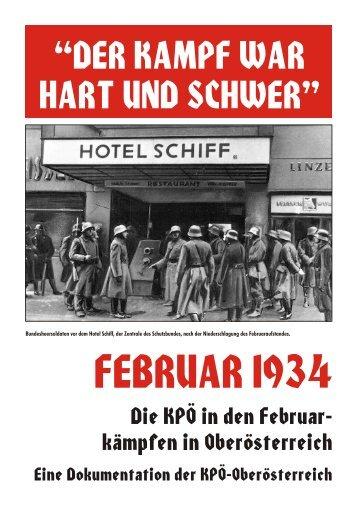 Februarkampf 1934 - KPÖ Oberösterreich
