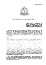 PORTARIA ARTESP nº 15 DE 13 AGOSTO DE 2012. Dispõe sobre ...