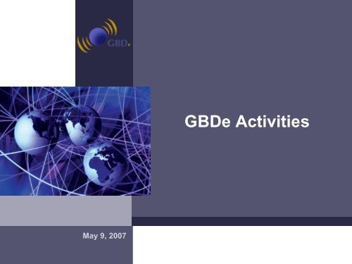 GBDe - Global Business Dialogue on Electronic Commerce