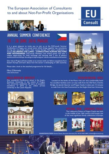 ANNUAL SUMMER CONFERENCE 19–21 JUNE 2009 ... - EUConsult