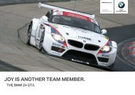 JOY IS ANOTHER TEAM MEMBER. - BMW Motorsport