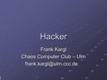Hacker - Ulm - CCC