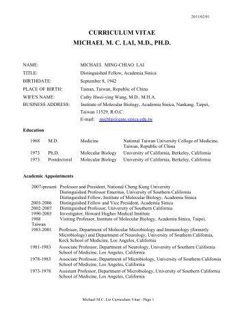 Curriculum Vitae Lars Michael Kristensen Ph D