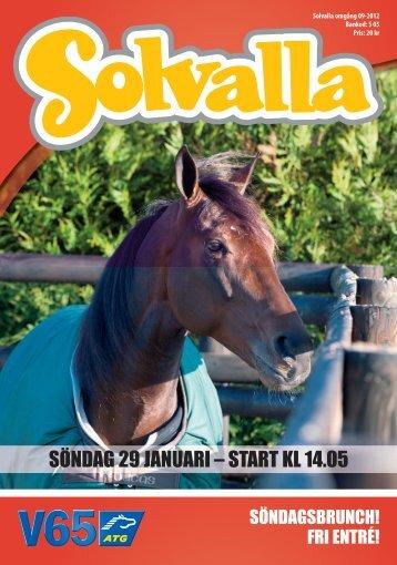 SÖNDAG 29 JANUARI – START KL 14.05 - Solvalla