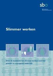 Slimmer werken (okt 2008) - InnovatieImpuls Onderwijs