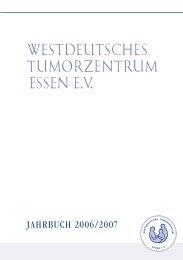 westdeutsches tumorzentrum essen ev. . - Universitätsklinikum Essen