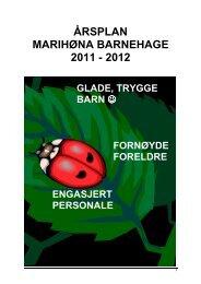 årsplan marihøna barnehage 2011 - 2012 - Porsgrunn Kommune