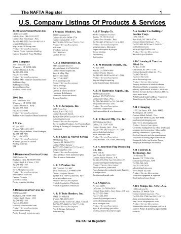 U.S. Company Listings Of Products & Services - Global Contact Inc.