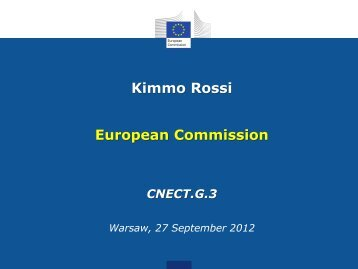 Kimmo Rossi European Commission - CESAR project