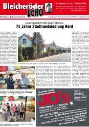 75 Jahre Stadtrandsiedlung Nord