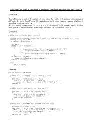 Fondamenti di Informatica - 18 aprile 2002 - Soluzione Traccia A