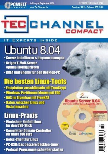Ubuntu 8.04 - TecChannel