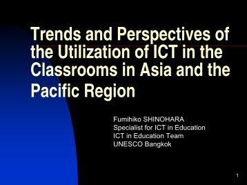 Presentation at APEID Tokyo-Kyoto Seminar2003 - UNESCO Bangkok