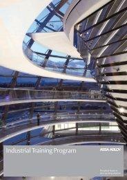 Industrial Training Program Brochure - ASSA ABLOY