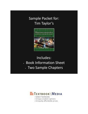 Book Information / Sample Chapter(s) (PDF) - Textbook Media