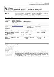 Skultes pagasta bibliotēkas 2011. gada statistiskie rādītāji - Limbažu ...