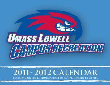 2011 2012 CALENDAR - University of Massachusetts Lowell