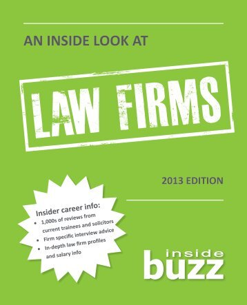 An Inside Look at Law Firms - University of Johannesburg