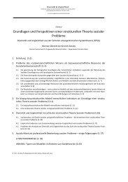 Grundlagen und Perspektiven einer strukturellen Theorie sozialer ...