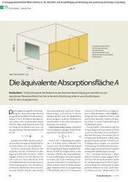 Die äquivalente Absorptionsfläche A - TrockenBau Akustik