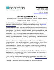 Play Along With the VSO - Virginia Symphony Orchestra