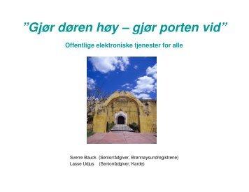 (Microsoft PowerPoint - ALTINN - Gj\370r d\370ren h ... - Karde AS
