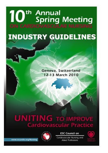 CCNAP2010 Guidelines - ESC Exhibitors and Industry Partners ...