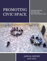 2011-2012 Annual Report - The International Center for Not-for ...