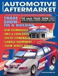 AM AUG/SEPT 02 - Australian Automotive Aftermarket Magazine