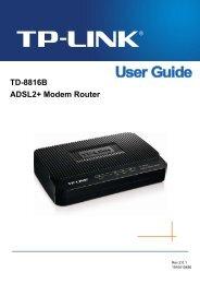 TD-8816B User Guide - TP-Link