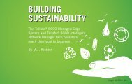 Building Sustainability - Tellabs